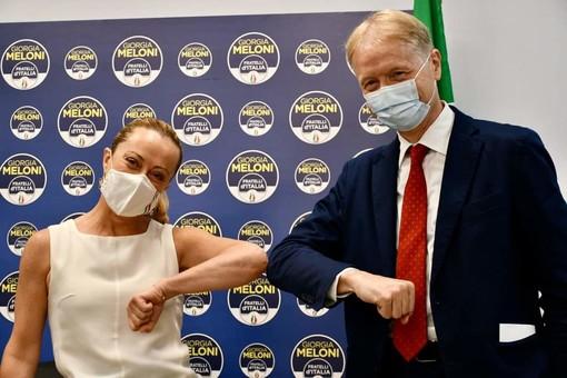 Malan passa a Fratelli d'Italia (Foto tratta dalla pagina Facebook FdI Senato)