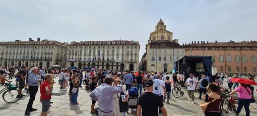 La piazza per il No Paura Day 2
