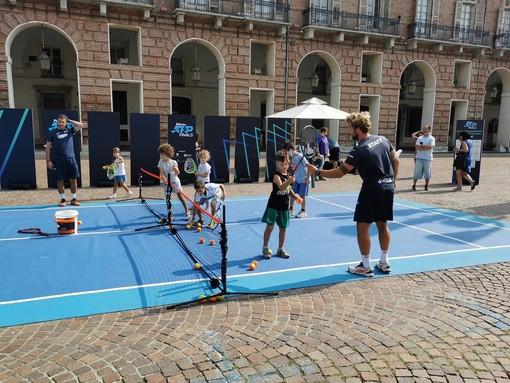 Tennis, le Nitto Atp Finals sono già sbarcate a Torino in piazza Castello