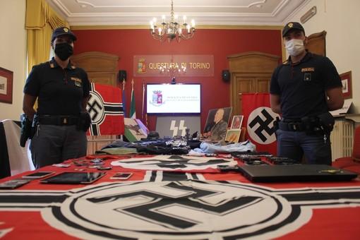 Stemmi e simboli nazisti in casa, frasi razziste nelle chat: denunciati sei militanti di estrema destra [FOTO E VIDEO]