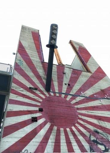 A Parco Dora il murale della discordia: Mishima divide Torino a cinquant'anni dalla morte