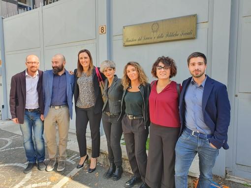 La delegazione Fim Cisl Olisistem Start al ministero del lavoro con il sostegno degli onorevoli  Francesca Bonomo PD e Jessica Costanzo M5S;