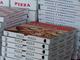 Pizza da asporto e scatoloni