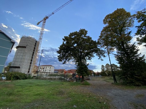 Il cantiere del parco Amendola a Settimo