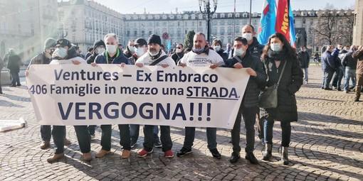 protesta dei lavoratori ex Embraco