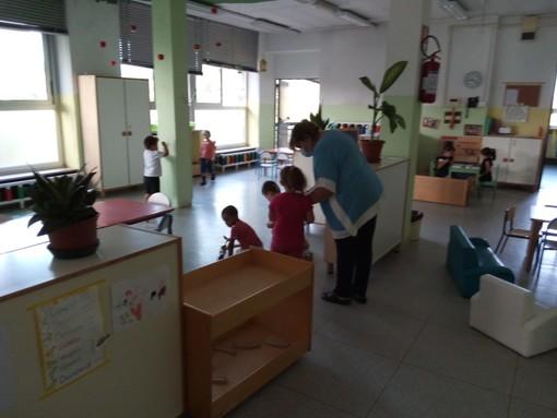 I bambini del polo 0-6 di Mirafiori tornati all'asilo tra misure di sicurezza e voglia di giocare