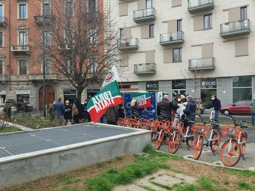 Manifestazione politica in strada