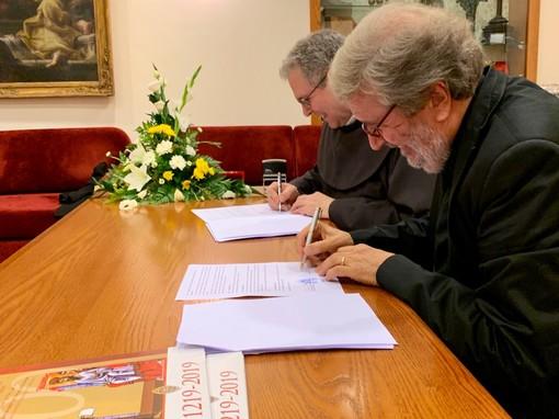 """Firma di accordo tra Custodia di Terra Santa e Fondazione """"La Venaria Reale"""" di Torino"""