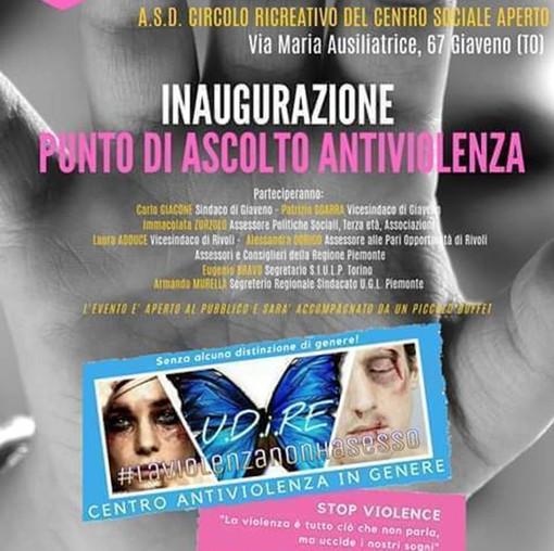 """Domani a Giaveno apre il primo """"punto di ascolto antiviolenza"""""""