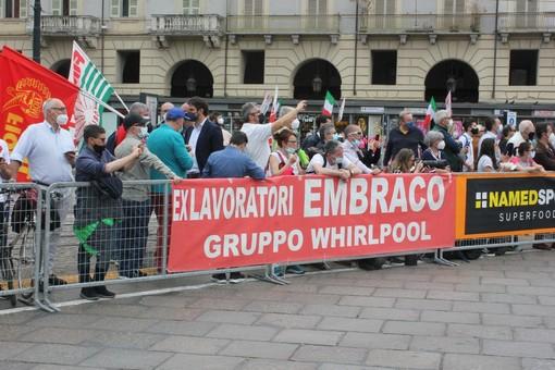 protesta lavoratori embraco