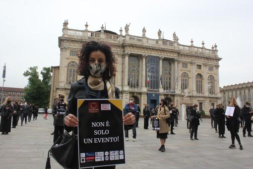 La manifestazione di Federmep in piazza Castello, nelle scorse settimane