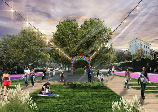 Un parco lineare al posto dei binari morti: l'idea di Torino Stratosferica per corso Gabetti