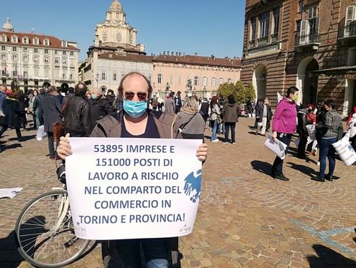 Maria luisa Coppa e Ascom in piazza