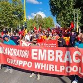 protesta lavoratori embraco a firenze