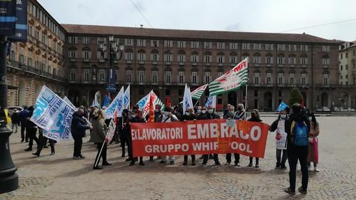 la protesta dei lavoratori Embraco