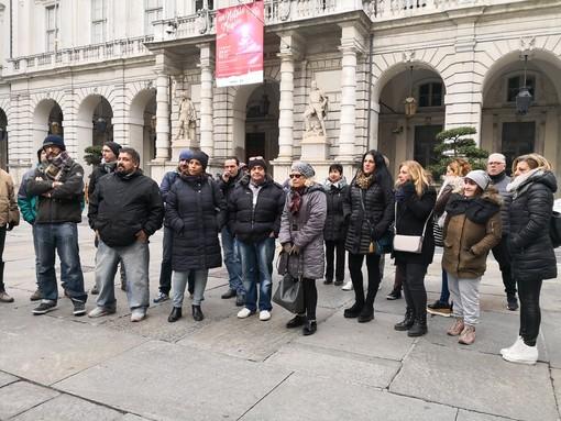 Immagine d'archivio di una protesta dei dipendenti Tundo