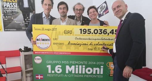 I M5S si tagliano lo stipendio: 195mila euro a 11 associazioni piemontesi