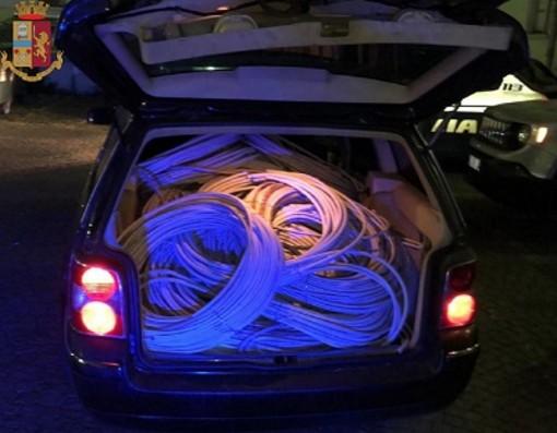 rame in un bagagliaio d'auto
