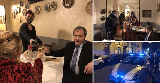 """La polizia ferma la cena """"IoApro"""" e multa i clienti, lacrime per la titolare: """"Questa è la nostra fine"""" [VIDEO e FOTO]"""