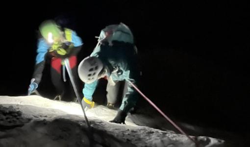 Soccorso alpino in azione di notte