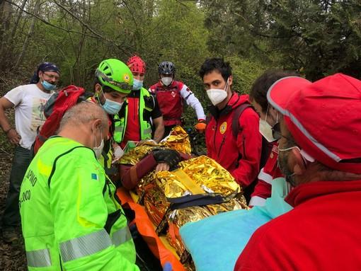 Incidente per un mtbiker sul colle della Maddalena: recuperato e messo in salvo dal Soccorso Alpino
