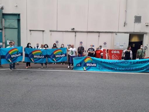 foto di archivio di uno sciopero dei dipendenti Carrefour