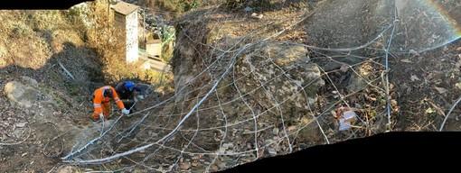 Provinciale di Ribordone: eliminato il masso pericolante sopra Sparone, terminati i lavori