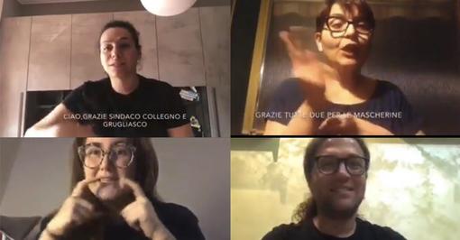 Collegno e Grugliasco, i cittadini sordi ringraziano i sindaci per le mascherine trasparenti