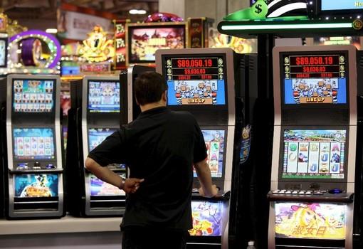 Slot machine - immagine d'archivio