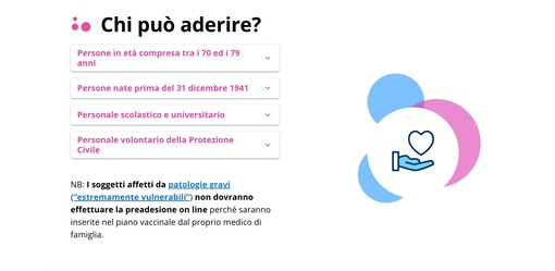 home page del sito ilpiemontetivaccina.it