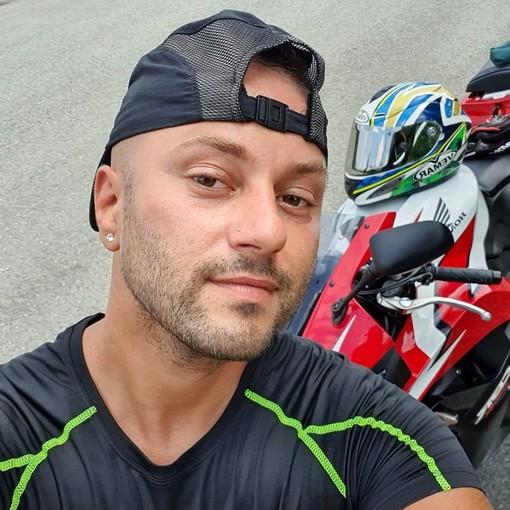 Il motociclista Stefano Bianco