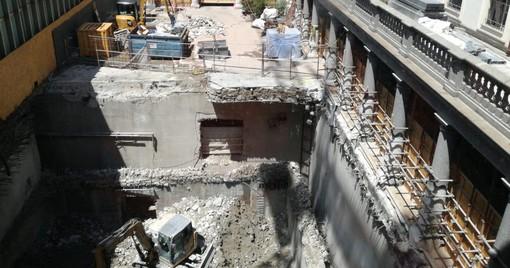 Si scava nel cuore di Torino: cresce la Galleria di Intesa San Paolo in piazza San Carlo [FOTO E VIDEO]