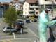 Coronavirus, a Carmagnola i tamponi si eseguono in auto nel parcheggio dell'ospedale