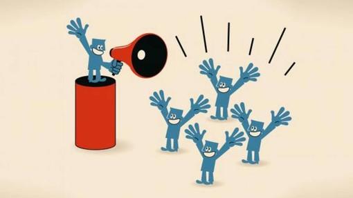 vignetta che rappresenta un influencer