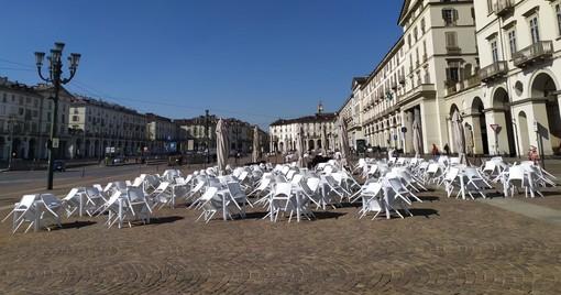 Dehors deserti e clienti in coda: Torino si ritrova arancione e spera in un marzo clemente [FOTO E VIDEO]