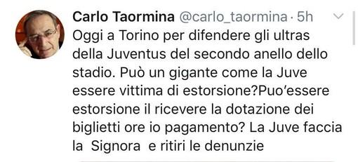 "Ultrà Juventus: l'avvocato Taormina difenderà tre tifosi del gruppo ""Tradizione"""