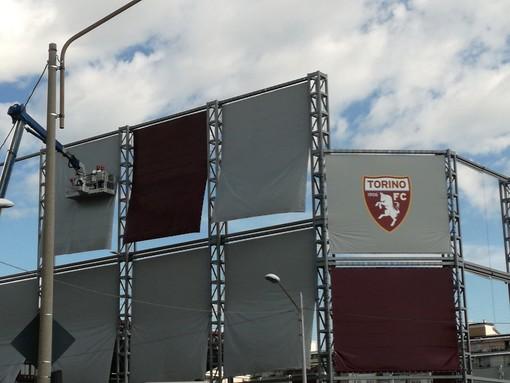 I nuovi teloni voluti dal tecnico del Torino Juric per il campo d'allenamento del vecchio Filadelfia
