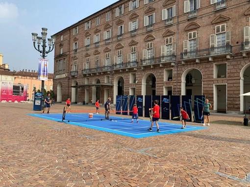 tennis in piazza a torino