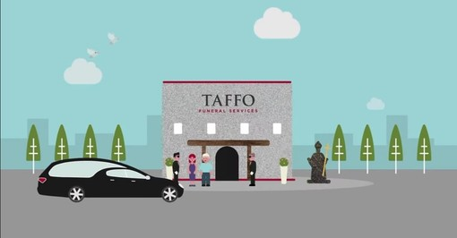 immagine presa da video di Taffo onoranze funebri