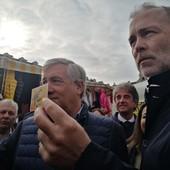 Damilano e Tajani a porta Palazzo