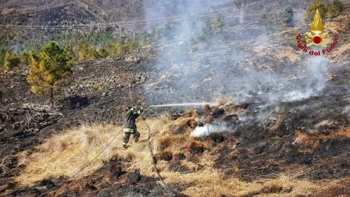 Givoletto, prosegue l'opera di spegnimento degli incendi da parte dei pompieri (FOTO e VIDEO)