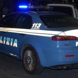 volante della polizia di notte