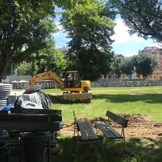 Iniziati i lavori ai giardini di via Revello: verranno inaugurati nel marzo 2021