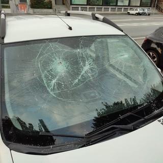 auto devastata nichelino
