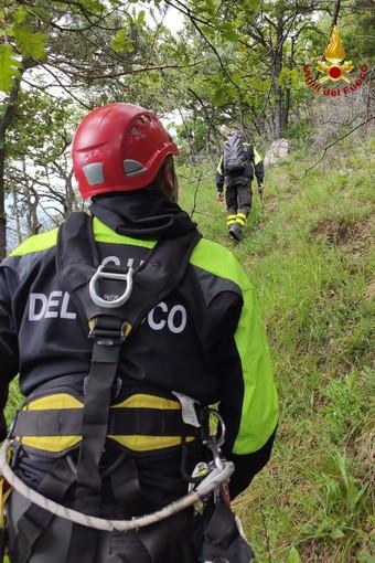 Quattro persone disperse a monte di Bussoleno: i vigili del fuoco le recuperano con l'elicottero