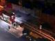 Vigili del fuoco durante un sopralluogo